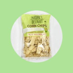 Nature's delight corn chips white strips Top Fruit Marketr